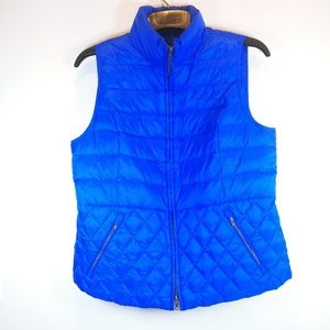 Talbots Down filled quilted vest Petite